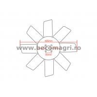 Palet ventilator John Deere Ventilator  Sistemul de racire