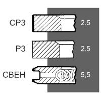 Set segmenti Fiat Segmenti  Motor